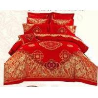 Buy cheap Textile wedding red linens, bedding wedding satin sheets from wholesalers