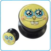 Buy cheap TP021354 Lovely SpongeBob Face Oil Picture Acrylic Plug Ear Body Jewelry from wholesalers