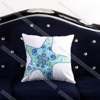Buy cheap Embroidered Starfish Cushion Cover Cheap Decorative Throw Pillows for couch product