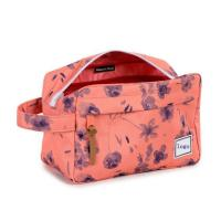 Buy cheap side handle flower floral makeup cosmetic bag from wholesalers