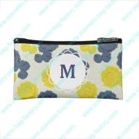 Buy cheap flat floral designer cosmetic bag for lady from wholesalers