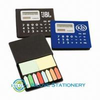 Buy cheap Tape Flags Sticky Notes Box with Calculator, Silver, Black, Blue, Red Colors Available from wholesalers