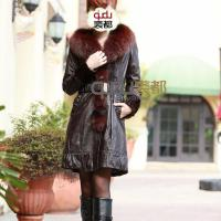 Buy cheap Coat QD11908 Sheep Leather Coat with Fox Collar and Mink Fur Trim from wholesalers