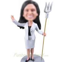 Buy cheap custom white suit bobbleheads from wholesalers