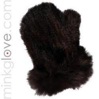 Buy cheap Knitted Mahogany Brown Mink Massage Glove/Mitten (Double Sided) from wholesalers