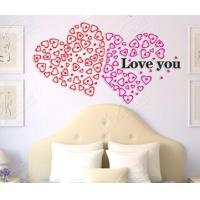Buy cheap 3Dacrylic love Crystalline solid wall stick a fifth-generation creative DIY round spell/SH019 from wholesalers