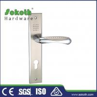 Buy cheap Zamac door handle on plate P01L143 from wholesalers
