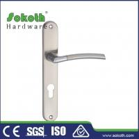 Buy cheap Zamac door handle on plate P04L001 from wholesalers
