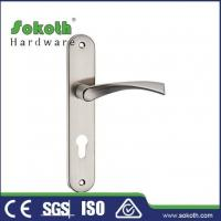 Buy cheap Zamac door handle on plate P04L017 from wholesalers