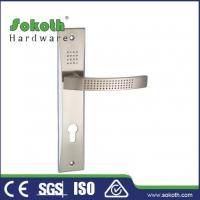 Buy cheap Zamac door handle on plate P01L193 from wholesalers