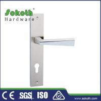 Buy cheap Zamac door handle on plate P03L185 from wholesalers