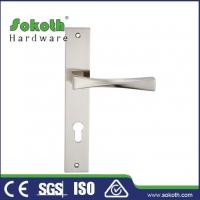 Buy cheap Zamac door handle on plate P03L179 from wholesalers
