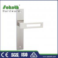 Buy cheap Zamac door handle on plate P03L184 from wholesalers