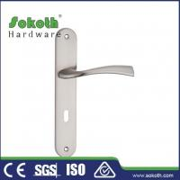 Buy cheap Zamac door handle on plate P04L076 from wholesalers
