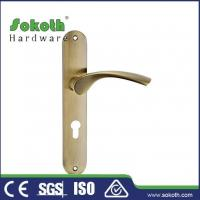 Buy cheap Zamac door handle on plate P04L131 from wholesalers