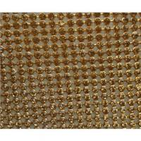 Buy cheap Hot Fix Adhesive Rhinestone Sheet, Hot Fix Crystal Rhinestone Mesh Trimming Roll from wholesalers