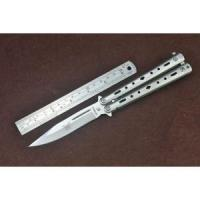 Buy cheap Fixed blade knives Satin Finish Spear Point Blade Balisong Butterfly Knife With T Latch Lock 4933 from wholesalers
