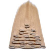 """Buy cheap 20"""" straight natural colour High quality 10pcs clip in human hair extensions product"""