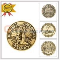 Buy cheap yellow brass token28*1.85 product