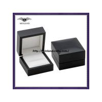 Buy cheap matte black wooden ring box from wholesalers