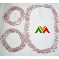 Buy cheap Rose Quartz Nugget Necklace Bracelet Jewelry from wholesalers