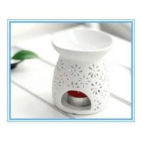 Buy cheap 10.8cm hot sell hollow out white ceramic oil burner home decoration from wholesalers