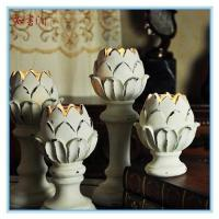Buy cheap vintage lotus ceramic candle holder product