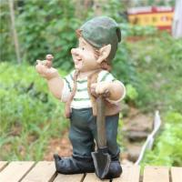 China resin gnome figurines with shovel on sale
