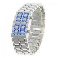 Buy cheap Sports Watches Iron Samurai - LAVA Inspired Blue LED Watch from wholesalers