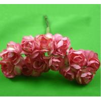 PFPR014Peach Red 2.0cm paper flower rose