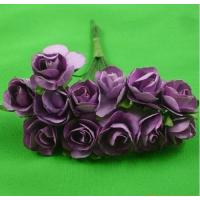 Buy cheap PFPR011Purple 1.5cm scrapbooking paper rose flowers from wholesalers