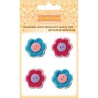 Buy cheap Crochet Flower CF010Handmade cotton crochet flowers with buttons decorative from wholesalers