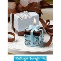 Buy cheap Browse All 50+ Themes Brown & Blue Gift Box Candle Favor from wholesalers