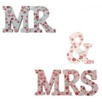 Ditsy Mr and Mrs Letters