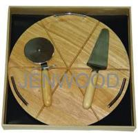 Buy cheap cheese set 【Pizza board with 2 knives】 from wholesalers