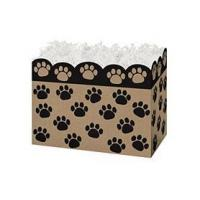 Buy cheap Paw Prints Kraft Small Basket BoxCase Pack - 6 from wholesalers