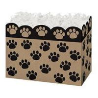 Buy cheap Paw Prints Kraft Large Basket BoxCase Pack - 6 from wholesalers