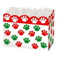 Buy cheap Holiday Paw Prints Large Basket BoxCase Pack - 6 from wholesalers