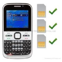 Buy cheap F5 NOKIA E5 Copy Mobile Phone with Three SIM Cards Three Standby TV cellphones from wholesalers