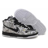 Buy cheap Womens Nike Dunk High Top 2011 White Black Gray from wholesalers
