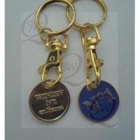 Buy cheap Trolley coin keychain from wholesalers