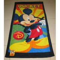 Buy cheap Cotton Reactive Printed Velour Beach Towels from wholesalers