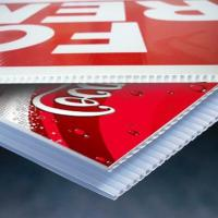 Buy cheap UV Flatable printed and Screen printed coroplast sheet from wholesalers
