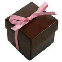 Buy cheap Favour Box with lid - Chocolate Brown Pack of 10 from wholesalers