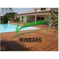 Buy cheap 150x25mm Pine Color Hollow WPC Decking Flooring from wholesalers