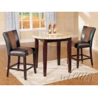 Buy cheap ACME Furniture Brittany Collection Cherry/Faux White Marble 3-pc Counter Dining Set from wholesalers