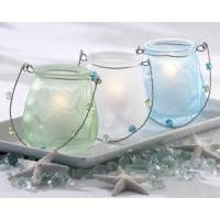 Buy cheap Sea Glass Luminary with Beaded Handle (Set of 3) from wholesalers