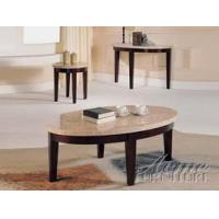 Buy cheap ACME Furniture Espresso/White Marble 3-pc Coffee Table Set from wholesalers