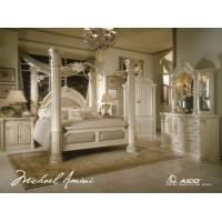 Buy cheap AICO Monte Carlo Silver Snow 4-Pc Queen Poster Bedroom Set from wholesalers