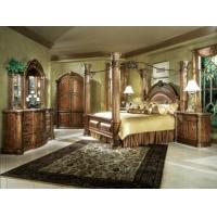 Buy cheap AICO Monte Carlo Pecan 4-Pc Queen Poster Bedroom Set from wholesalers